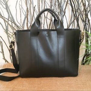 EUC Gap Leather Tote with Crossbody Strap